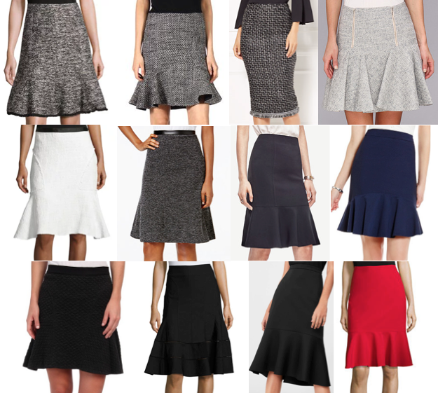 Flounce flared skirts on a budget
