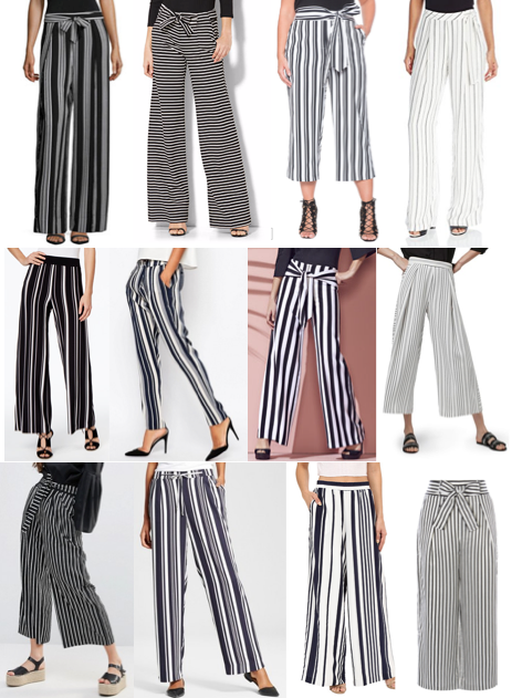 Stripe pants on a budget