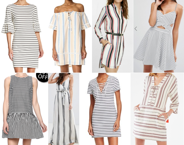 Casual stripe dresses under $100