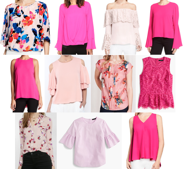 Pink blouses on a budget