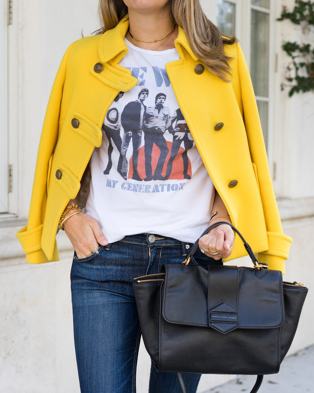 Yellow coat, The Who concert tee