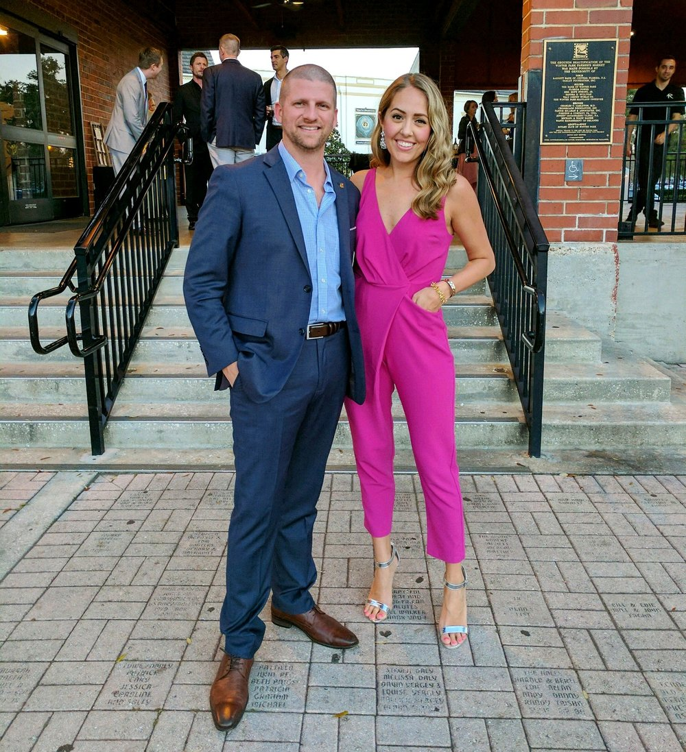Pink jumpsuit wedding attire