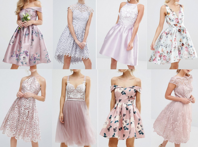 Blush pink wedding guest dresses on a budget