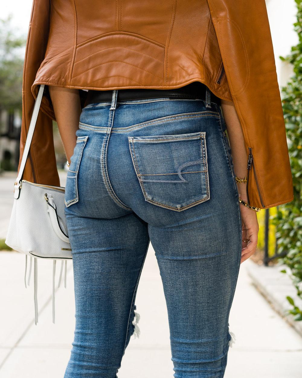 American Eagle high waist jeans