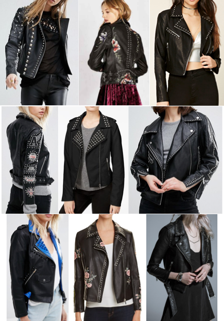 Studded leather jackets on a budget