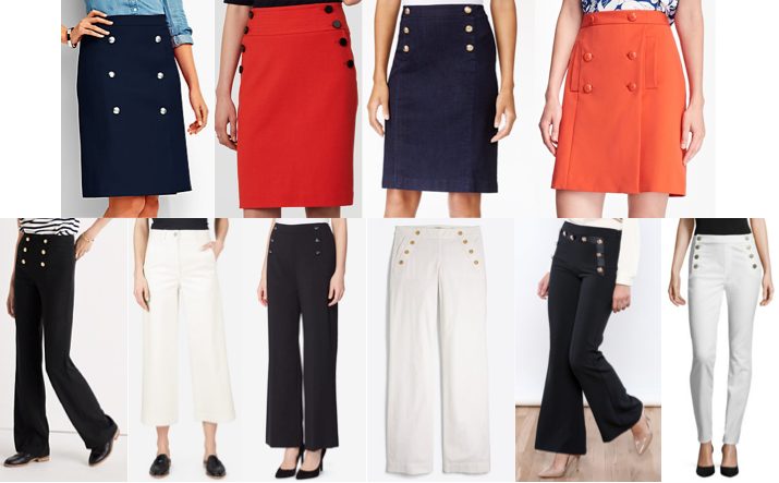 Sailor skirts and pants on a budget