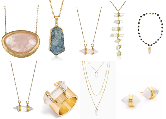 Quartz jewelry on a budget