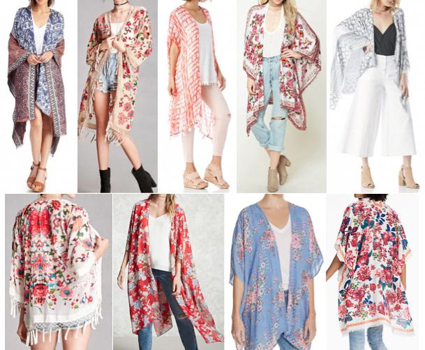 Kimono cardigans on a budget