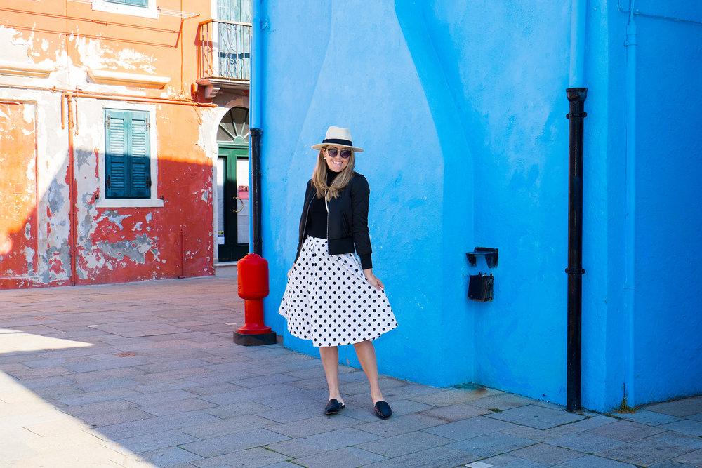 Burano, Italy - Polka dot skirt