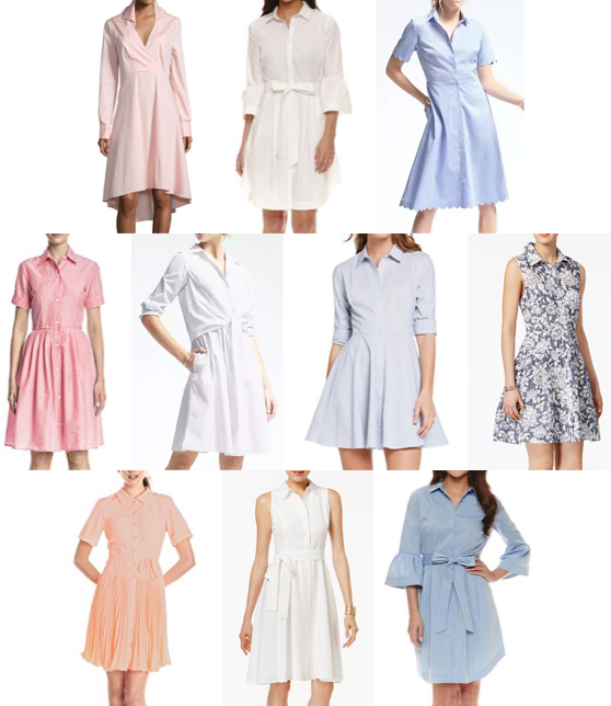 Shirt dresses on a budget