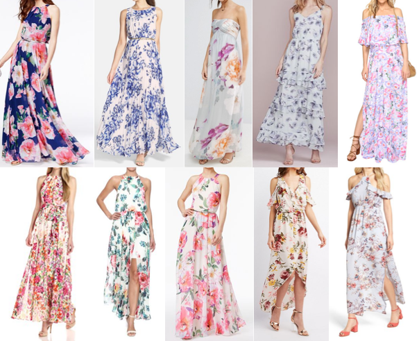 Floral maxis on a budget
