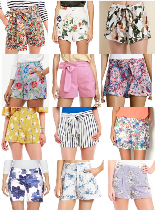 Floral dressy shorts on a budget