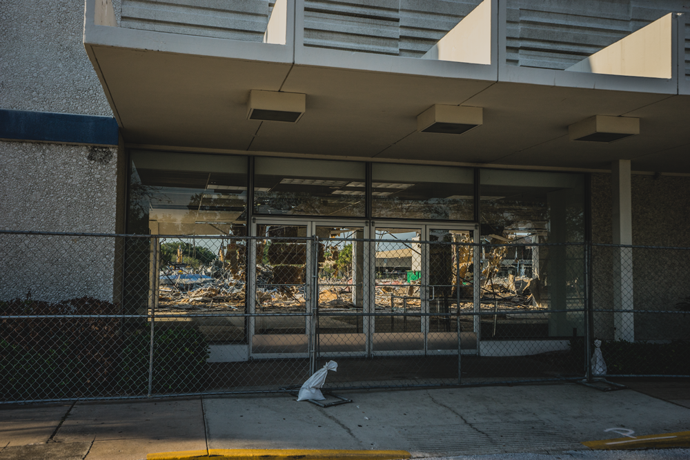 A local mall in ruins (Photo Credit: Joshua Johnson)
