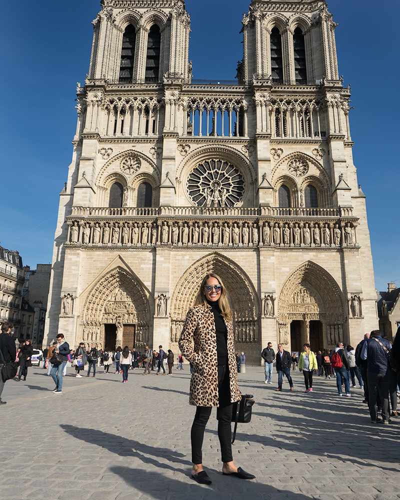 Notre Dame - leopard coat