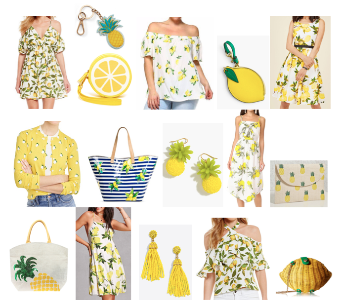 Lemon and pineapple shopping on a budget