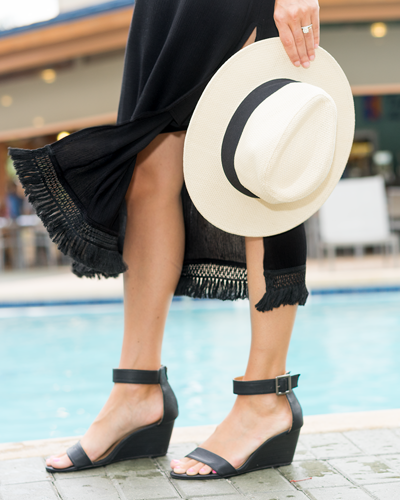Convertible black fringe skirt/dress - VacayStyle
