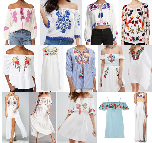 Embroidered tops and dresses on a budget