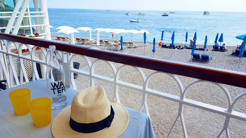 Beach side restaurant in Amalfi