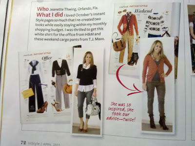 On the pages of InStyle Magazine - April 2011