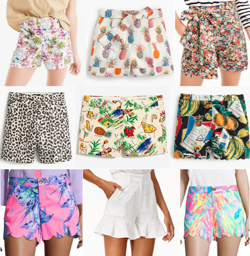 Printed shorts on a budget