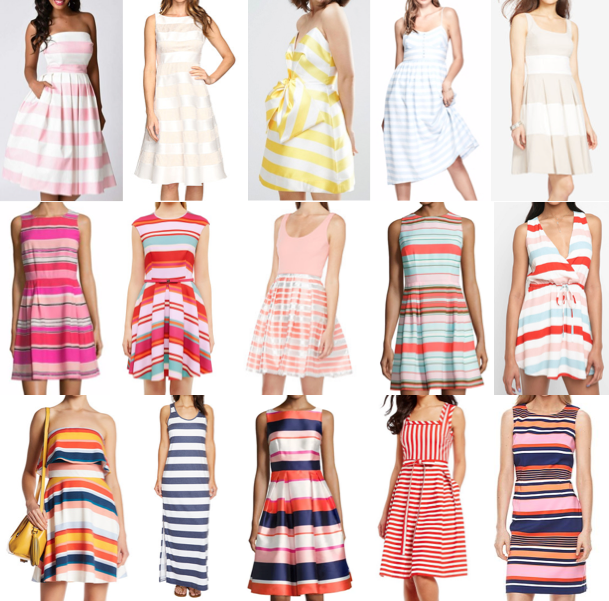 Colorful stripe dresses on a budget