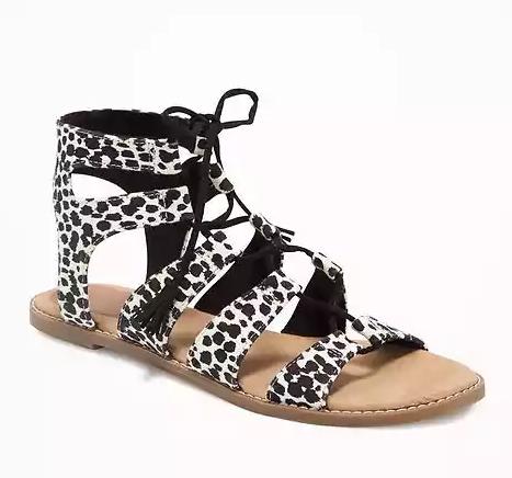 Dalmatian print sandals - Old Navy