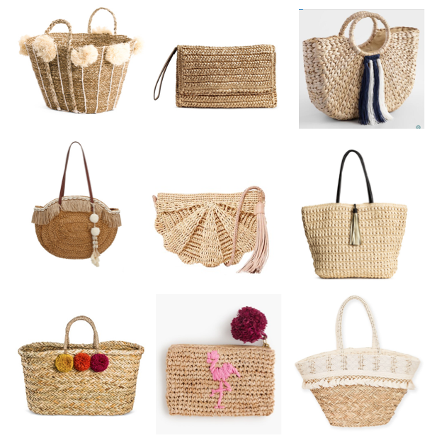 Straw bags on a budget