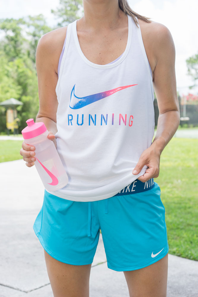 Colorful Nike running outfit