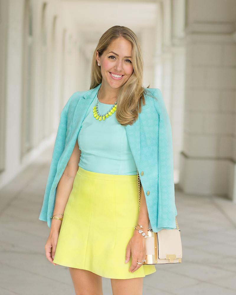 Mint and lime outfit