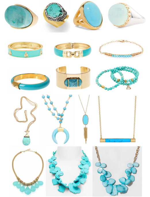 Turquoise and mint jewelry on a budget