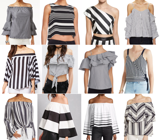 Black and white stripe tops on a budget
