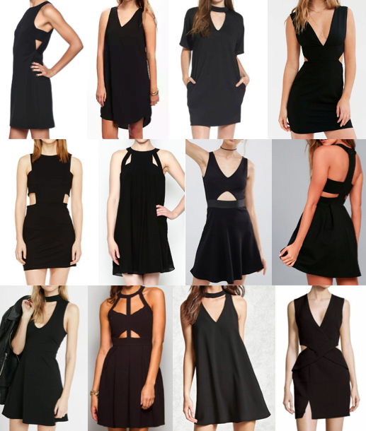 Cut out black dress on a budget