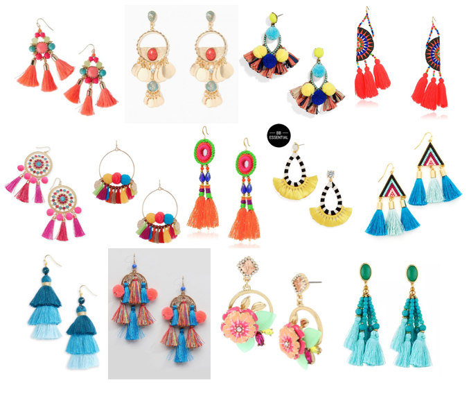 Colorful statement earrings under $50