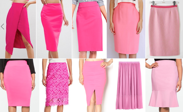 Pink skirts on a budget
