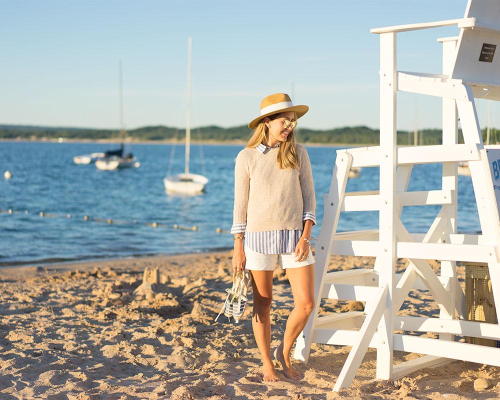 Bay View Lake Michigan stripes nautical outfit