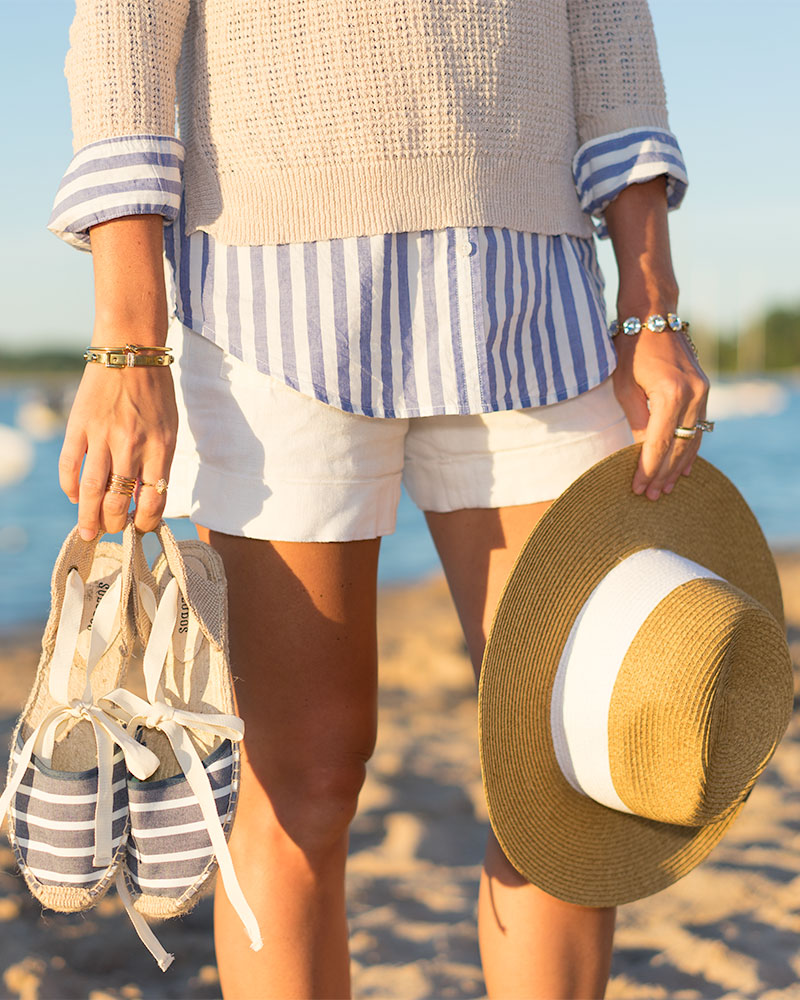 Stripes nautical outfit espadrilles
