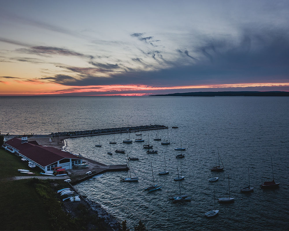 (Aerial View of Same Location at sunset //  ALl Images @JoshuaCJohnson)
