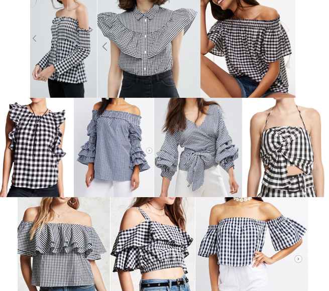Gingham tops on a budget