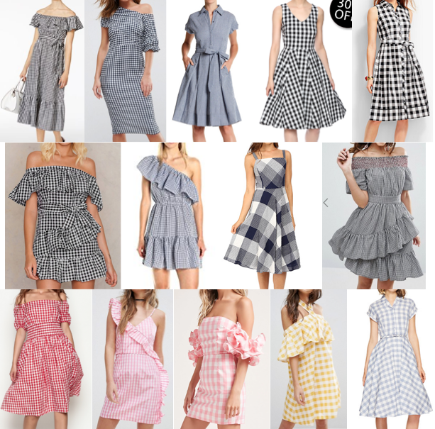 Gingham dresses on a budget