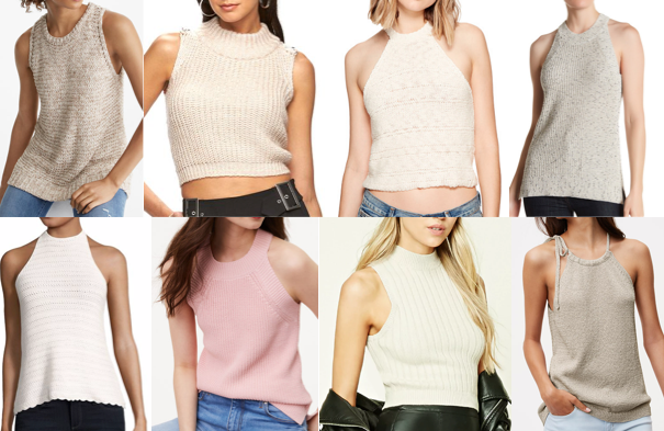 Halter sweaters on a budget