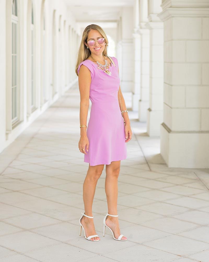 Lark & Ro violet dress