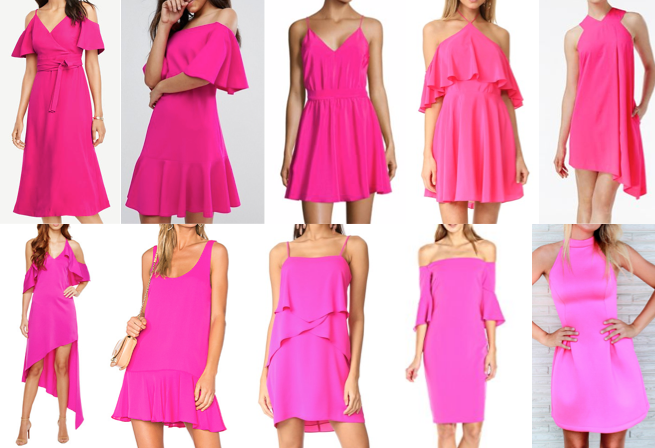 Hot neon pink dresses on a budget