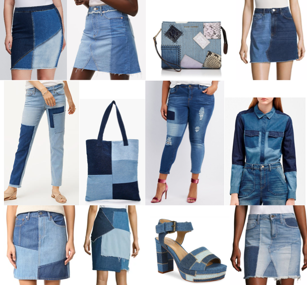 Patchwork denim on a budget