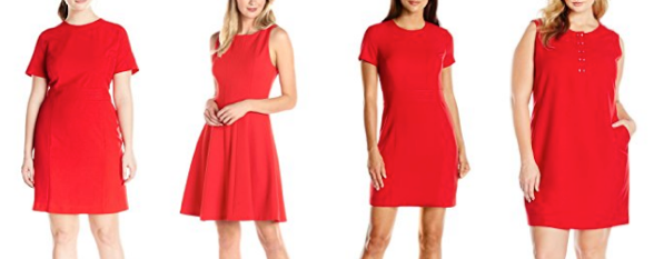 Lark & Ro red dress