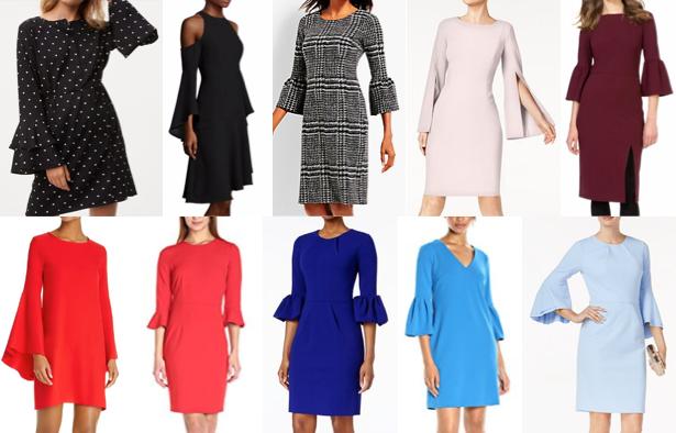 Bell sleeve dresses for work