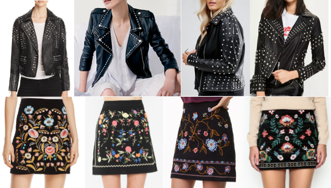 Studded leather jackets & embroidered skirts