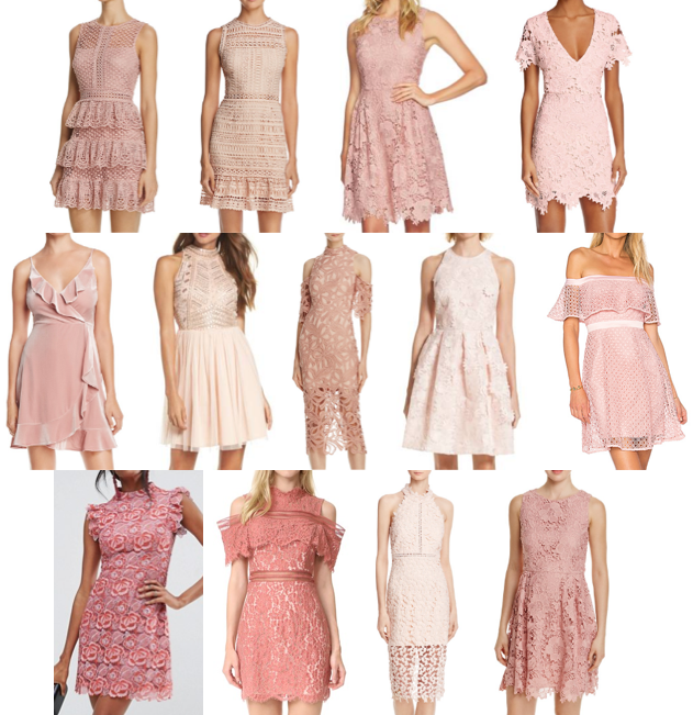 Pink textured dresses
