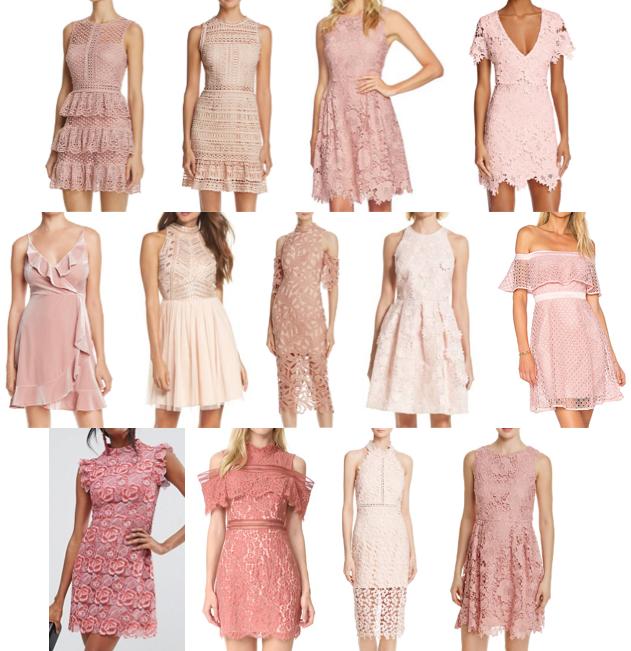 Pink textured dresses