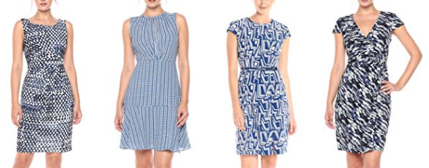 Blue pattern work dresses by Lark & Ro