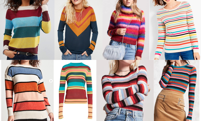 stripe sweaters on a budget